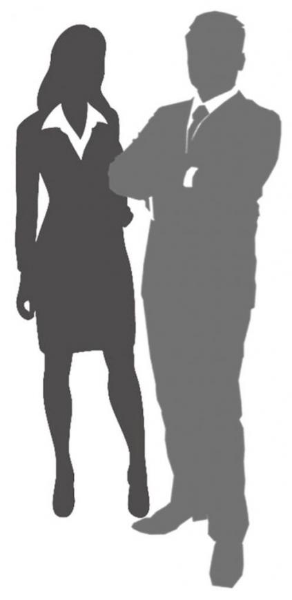 silueta pareja de ejecutivos 2